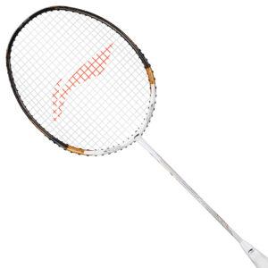 Li Ning Tectonic 7 Badminton Racket Unstrung (White/Gold)