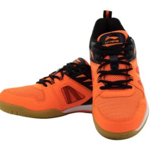 Buy LI-NING ATTACK G5 AYTQ078-1 Orange Badminton Shoes at best price