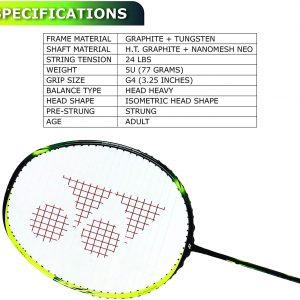Buy Yonex Astrox 2 (Black / Yellow) Unstrung Badminton Racket Online at Best Price