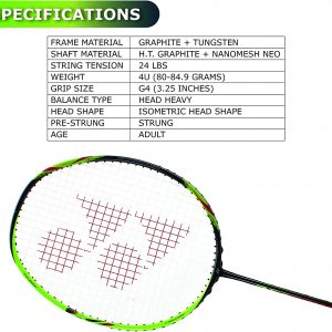 Buy Yonex Astrox 6 (Black / Lime) Badminton Racket Online At Best Price