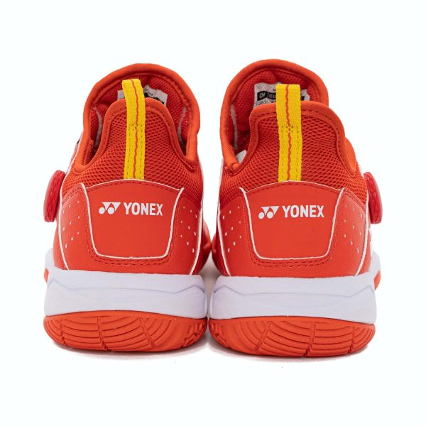 yonex shb dial 88 red badminton shoes