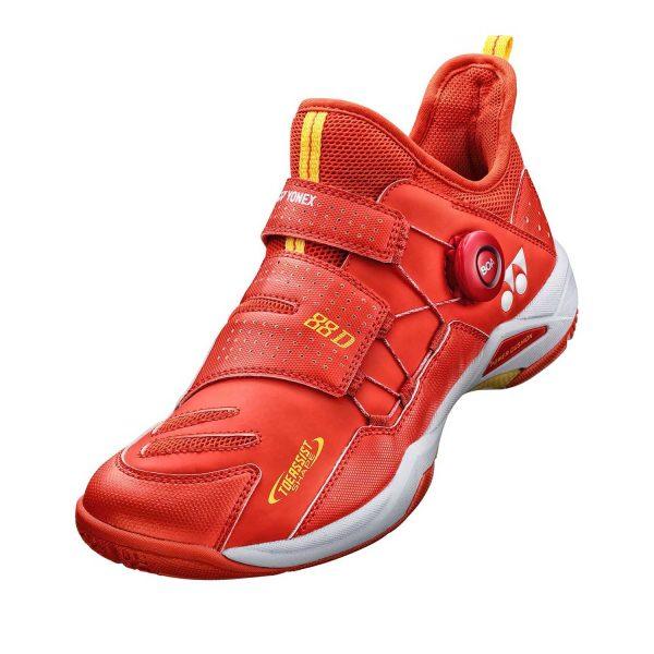 yonex shb dial 88 red badminton shoe