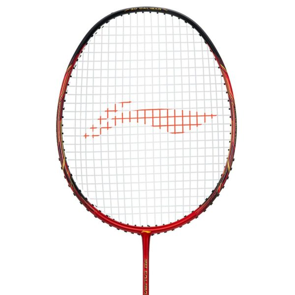 li ning 3d calibar x boost red black badminton racket
