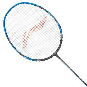 Buy Li Ning 3D CALIBAR X Combat (Charcoal/Blue) Badminton Racket Best price